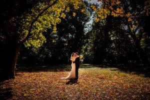 Brautpaarshooting im Herbstlicht