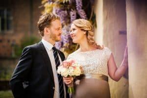 Brautpaar am Schloss Linn