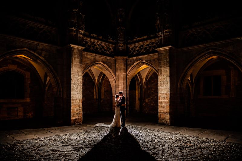 Brautpaarshooting bei Nacht