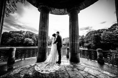 Brautpaarshooting im Stadtwald